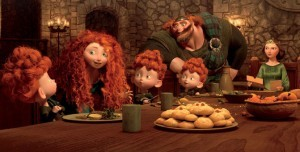 Merida and her family, from Pixar's BRAVE