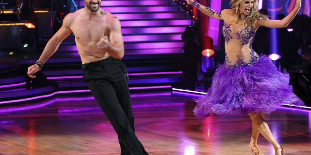 Erin Andrews performing on Dancing with the Stars