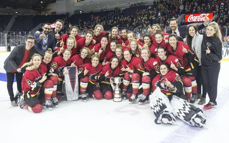 The 2019 Clarkson Cup winners, the CWHL's Calgary Inferno