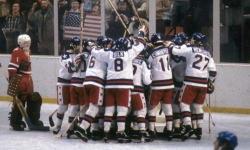 Team USA responds to their victory over the USSR